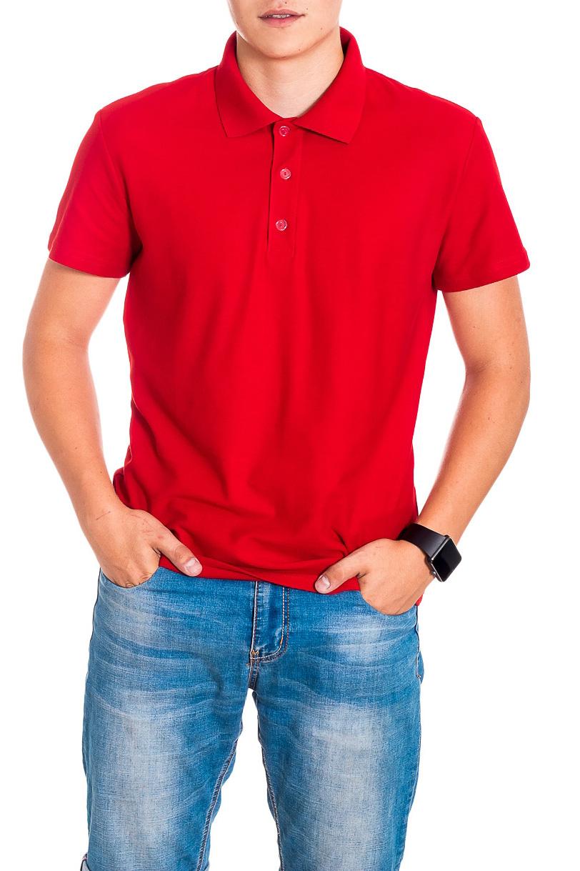 ДжемперФутболки<br>Мужская хлопковая футболка-поло. Отличный выбор для повседневного гардероба и активного отдыха.  Рост мужчины-фотомодели 178 см.  Цвет: красный<br><br>По сезону: Всесезон<br>Размер : 48,50,52<br>Материал: Трикотаж<br>Количество в наличии: 7