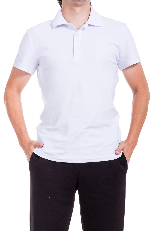 ДжемперФутболки<br>Мужская хлопковая футболка-поло. Отличный выбор для повседневного гардероба и активного отдыха.  Цвет: белый  Ростовка изделия 176 см.<br><br>По сезону: Всесезон<br>Размер : 48,50,52,56<br>Материал: Трикотаж<br>Количество в наличии: 12