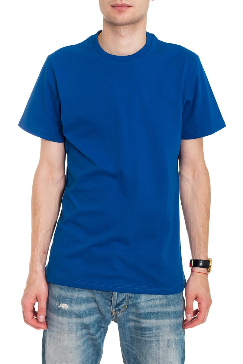ФутболкаФутболки<br>Мужская хлопковая футболка. Отличный выбор для повседневного гардероба и активного отдыха.  Цвет: синий  Рост мужчины-фотомодели 182 см<br><br>По сезону: Всесезон<br>Размер : 46,50,54<br>Материал: Хлопок<br>Количество в наличии: 4