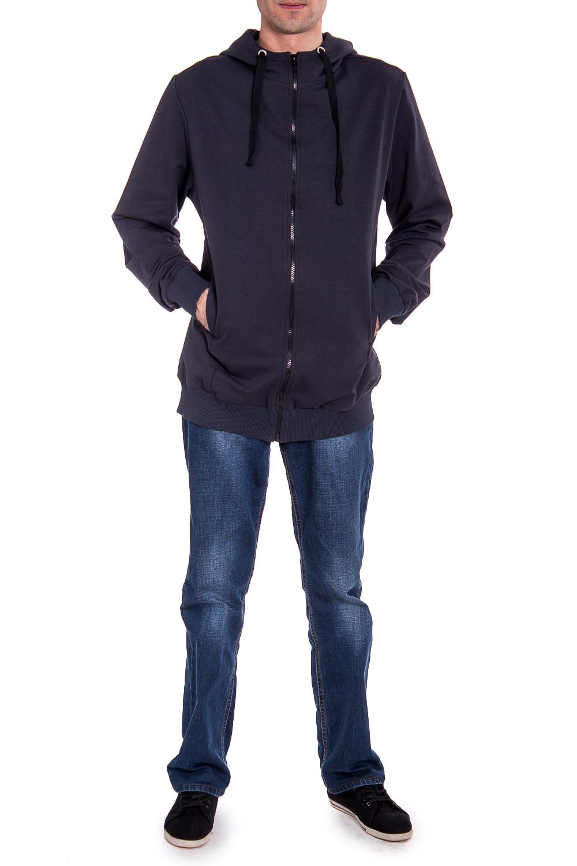 КурткаСпортивная одежда<br>Мужская трикотажная куртка с капюшоном. Длинные рукава с манжетами. Карманы по бокам изделия.  В изделии использованы цвета: серый  Рост мужчины-фотомодели 177 см<br><br>По сезону: Осень,Весна<br>Размер : 50,52<br>Материал: Трикотаж<br>Количество в наличии: 2