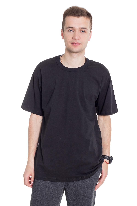 ФутболкаФутболки<br>Мужская хлопковая футболка с короткими рукавами.   Цвет: черный  Рост мужчины-фотомодели 182 см<br><br>По сезону: Всесезон<br>Размер : 46,48,50,56<br>Материал: Хлопок<br>Количество в наличии: 6