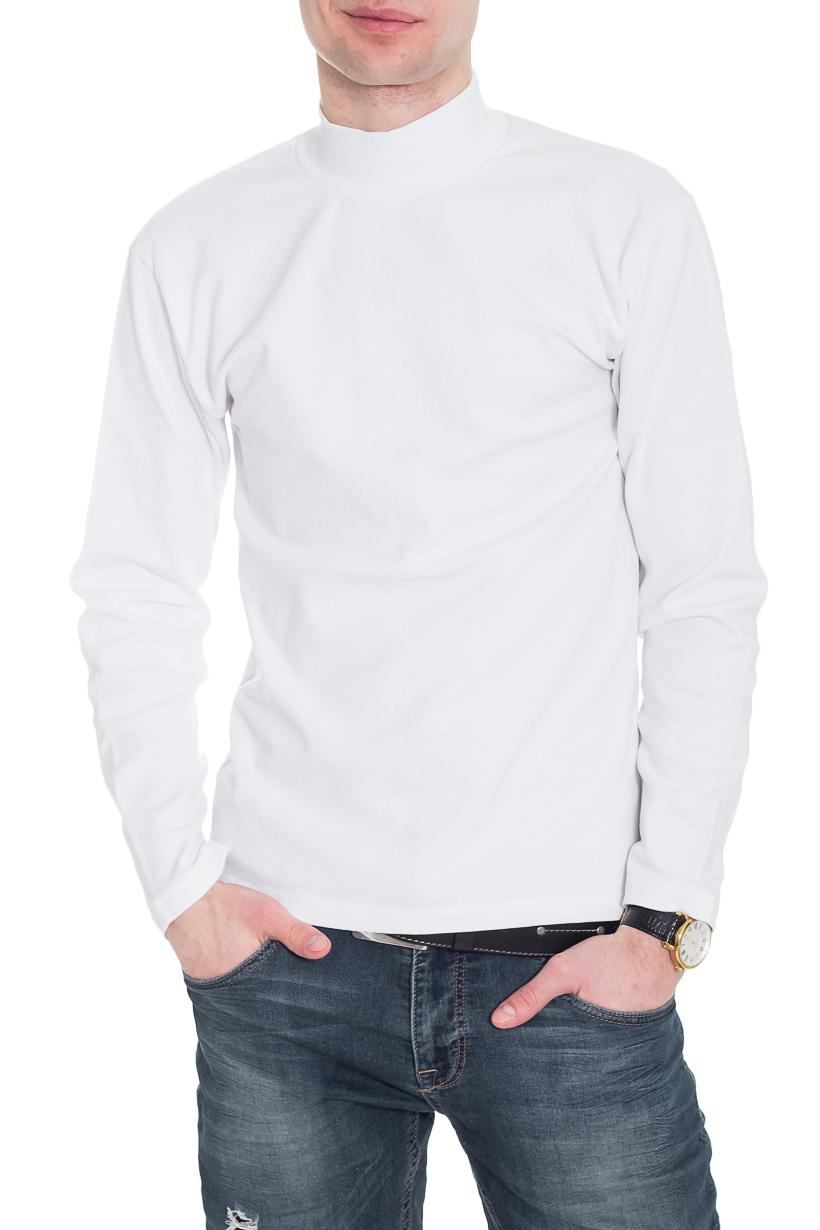 ВодолазкаДжемперы<br>Однотонная водолазка с воротником quot;стойкаquot; и длинными рукавами. Отличный выбор для базового гардероба.  Цвет: белый  Рост мужчины-фотомодели 182 см<br><br>По сезону: Осень,Весна<br>Размер : 40-42<br>Материал: Трикотаж<br>Количество в наличии: 1