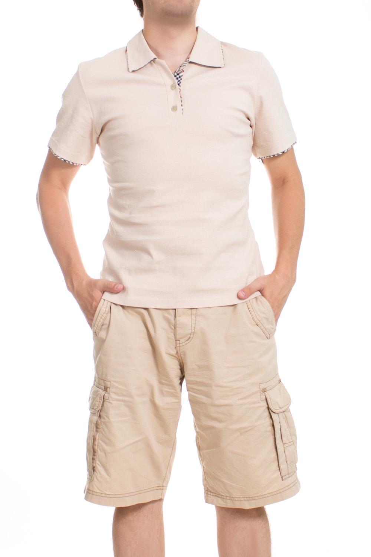 ФутболкаФутболки<br>Оригинальная футболка поло выполнена из высококачественного материала. Незаменимая модель в гардеробе каждого мужчины. Идеально будет сочетаться с джинсами.  Цвет: бежевый  Ростовка изделия 175-180 см.<br><br>По сезону: Всесезон<br>Размер : 46<br>Материал: Лен<br>Количество в наличии: 1
