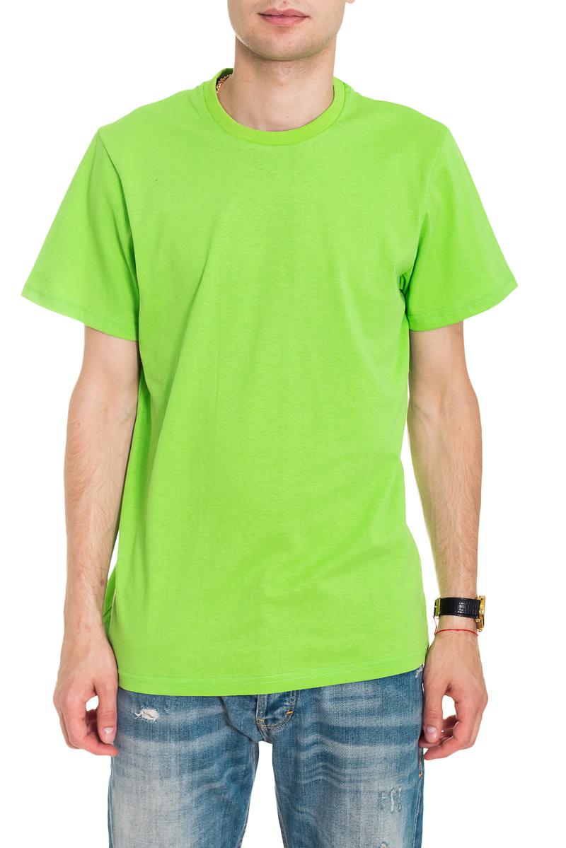 ФутболкаФутболки<br>Мужская хлопковая футболка. Отличный выбор для повседневного гардероба и активного отдыха.  Цвет: салатовый  Рост мужчины-фотомодели 182 см<br><br>По сезону: Всесезон<br>Размер : 46,48,50,52<br>Материал: Хлопок<br>Количество в наличии: 7