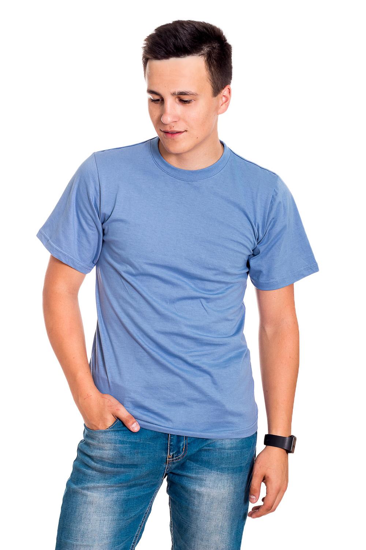 ФутболкаФутболки<br>Мужская хлопковая футболка. Отличный выбор для повседневного гардероба и активного отдыха.  В изделии использованы цвета: голубой  Рост мужчины-фотомодели 178 см<br><br>По сезону: Всесезон<br>Размер : 50,56<br>Материал: Хлопок<br>Количество в наличии: 2