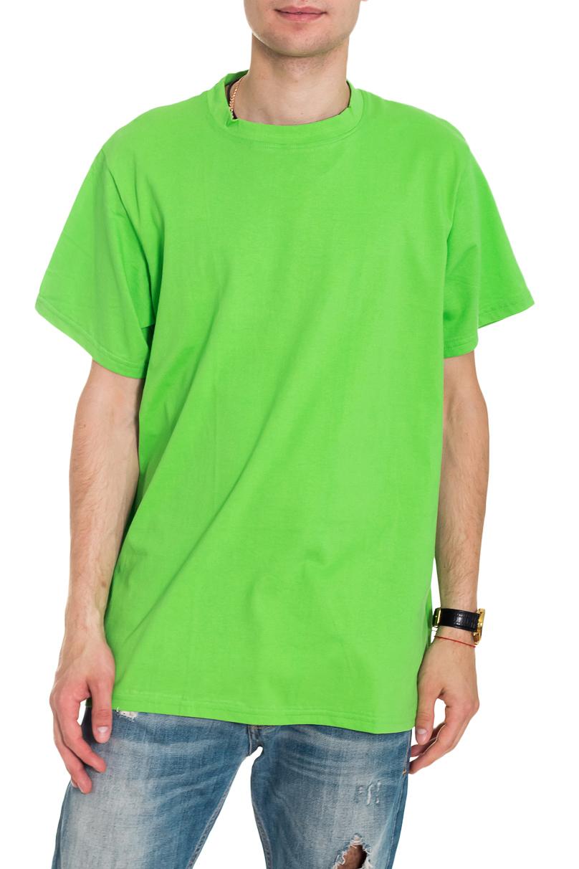 ФутболкаФутболки<br>Мужская хлопковая футболка. Отличный выбор для повседневного гардероба и активного отдыха.  Цвет: зеленый  Рост мужчины-фотомодели 182 см<br><br>По сезону: Всесезон<br>Размер : 52-54,54-56<br>Материал: Хлопок<br>Количество в наличии: 7