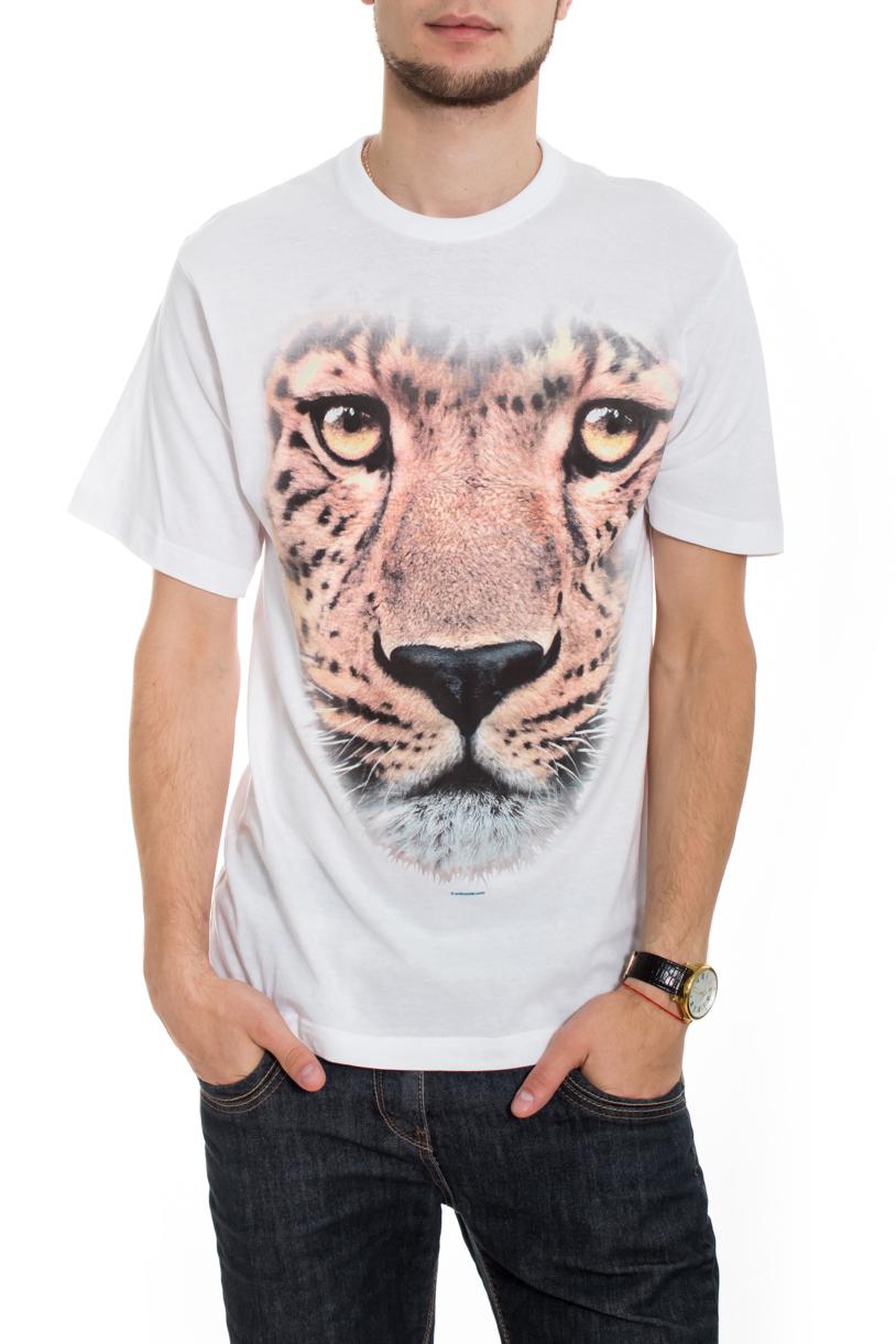 ФутболкаФутболки<br>Качественная мужская футболка пошитая из кулирной пряжи по новой технологии без боковых швов и состоит из 100% хлопка.  В изделии использованы цвета: белый, розовый и др.  Рост мужчины-фотомодели 182 см<br><br>По сезону: Всесезон<br>Размер : 50,52<br>Материал: Трикотаж<br>Количество в наличии: 2