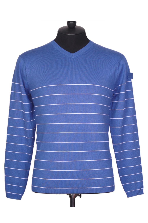 ПуловерПуловеры<br>Мужской пуловер с длинными рукавами. Отличный выбор для повседневного гардероба.  Цвет: синий<br><br>По сезону: Осень,Весна<br>Размер : 48,50,52,54<br>Материал: Трикотаж<br>Количество в наличии: 3