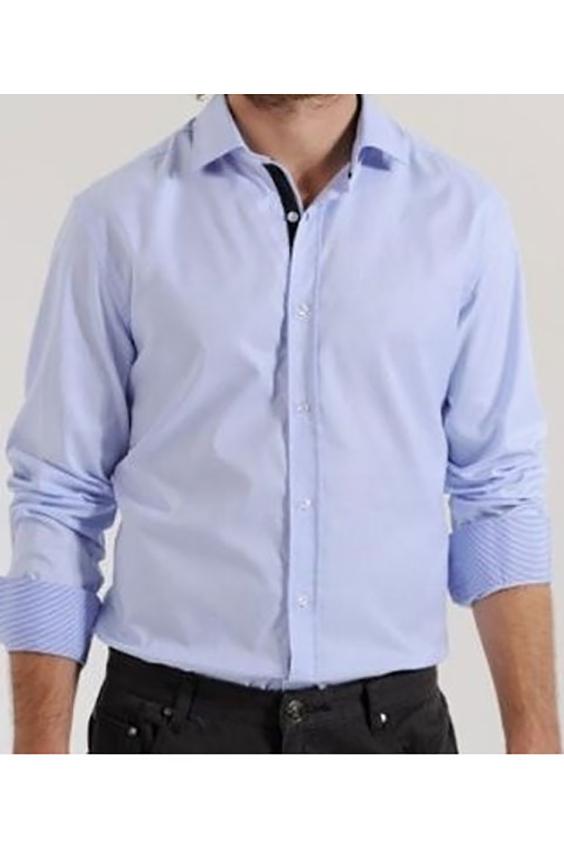 РубашкаКлассическая мужская рубашка с длинными рукавами. Модель выполнена из натурального хлопка. Отличный выбор для базового гардероба.  Цвет: сиреневый<br><br>По сезону: Всесезон<br>Размер : 46,48,50<br>Материал: Хлопок<br>Количество в наличии: 12