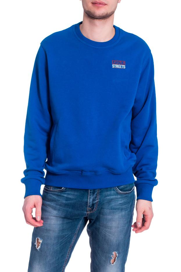 ТолстовкаДжемперы<br>Однотонная толстовка с круглой горловиной и длинными рукавами. Модель выполнена из плотного трикотажа. Отличный выбор для повседневного гардероба.  В изделии использованы цвета: синий  Рост мужчины-фотомодели 182 см<br><br>По сезону: Осень,Весна<br>Размер : 44,46,48-50,52-54,56-58,60-62<br>Материал: Трикотаж<br>Количество в наличии: 6