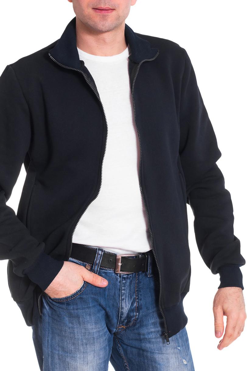 КофтаКофты<br>Мужская кофта с карманами. Длинные рукава. Цвет: черный  Рост мужчины-фотомодели 177 см<br><br>По сезону: Зима<br>Размер : 46,48,50,54<br>Материал: Трикотаж<br>Количество в наличии: 6