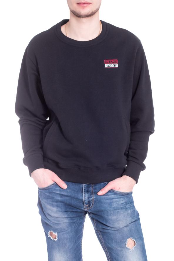 ТолстовкаДжемперы<br>Однотонная толстовка с круглой горловиной и длинными рукавами. Модель выполнена из плотного трикотажа. Отличный выбор для повседневного гардероба.  В изделии использованы цвета: черный  Рост мужчины-фотомодели 182 см<br><br>По сезону: Осень,Весна<br>Размер : 44,46,48-50,52-54,56-58<br>Материал: Трикотаж<br>Количество в наличии: 5