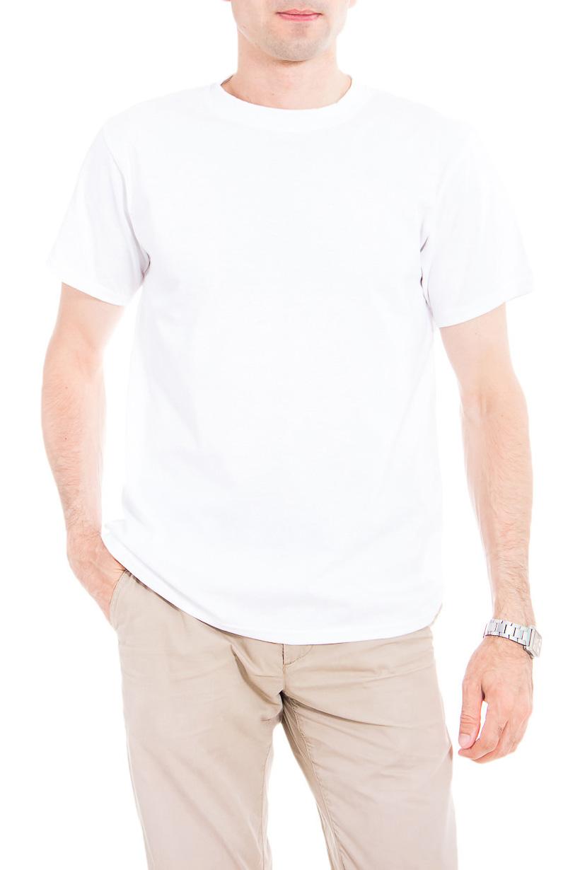 ФутболкаФутболки<br>Мужская хлопковая футболка. Отличный вариант для активного отдыха и для домашнего использования.  Цвет: белый  Рост мужчины-фотомодели 177 см<br><br>По сезону: Всесезон<br>Размер : 48<br>Материал: Хлопок<br>Количество в наличии: 1