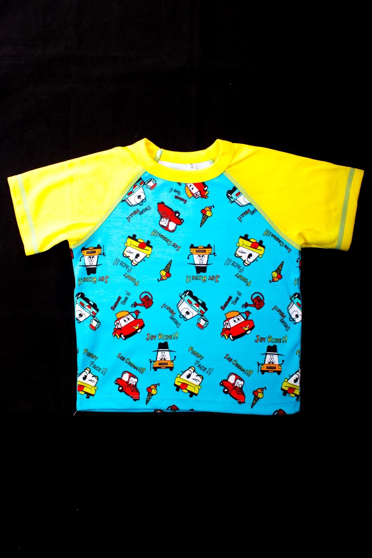 ФутболкаФутболки<br>Яркая футболка для мальчика  В изделии использованы цвета: голубой, желтый и др.  Размер 74 соответствует росту 70-73 см Размер 80 соответствует росту 74-80 см Размер 86 соответствует росту 81-86 см Размер 92 соответствует росту 87-92 см Размер 98 соответствует росту 93-98 см Размер 104 соответствует росту 98-104 см Размер 110 соответствует росту 105-110 см Размер 116 соответствует росту 111-116 см Размер 122 соответствует росту 117-122 см Размер 128 соответствует росту 123-128 см Размер 134 соответствует росту 129-134 см Размер 140 соответствует росту 135-140 см Размер 146 соответствует росту 141-146 см<br><br>Горловина: С- горловина<br>По длине: Удлиненные<br>По образу: Повседневные<br>По рисунку: С принтом (печатью)<br>По сезону: Весна,Зима,Лето,Осень,Всесезон<br>По силуэту: Полуприталенные<br>Рукав: Короткий рукав<br>По возрасту: Ясельные ( от 1 до 3 лет),Дошкольные ( от 3 до 7 лет)<br>Размер : 86<br>Материал: Трикотаж<br>Количество в наличии: 2