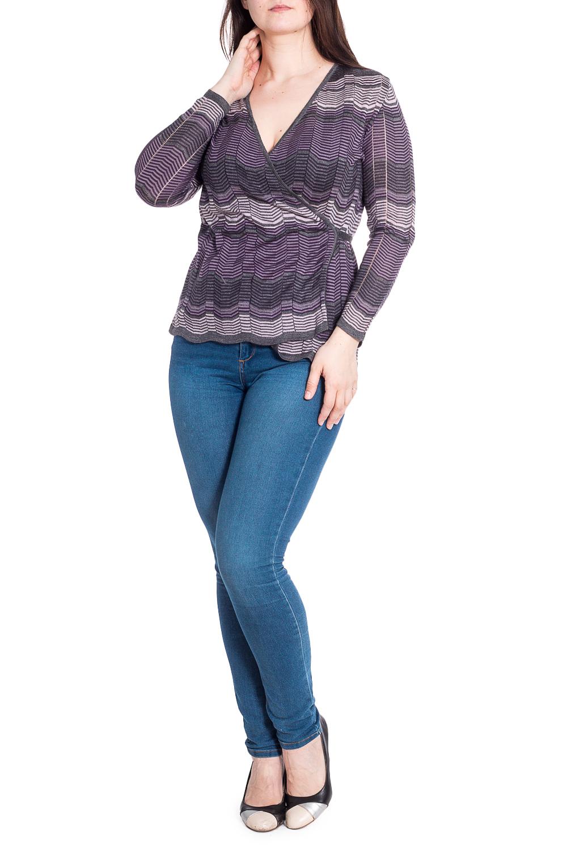ЖакетКардиганы<br>Облегченный кардиган на запах с длинными рукавами. Вязаный трикотаж - это красота, тепло и комфорт. В вязаных вещах очень легко оставаться женственной и в то же время не замёрзнуть.В изделии использованы цвета: фиолетовый, серый и др.Рост девушки-фотомодели 180 см<br><br>Горловина: V- горловина,Запах<br>Рукав: Длинный рукав<br>Длина: Короткие<br>Материал: Вязаные,Трикотаж<br>Рисунок: В полоску,Цветные<br>Сезон: Весна,Осень<br>Силуэт: Приталенные<br>Стиль: Повседневный стиль<br>Элементы: С фигурным низом<br>Застежка: С завязками<br>Размер : 50,52<br>Материал: Вязаное полотно<br>Количество в наличии: 2