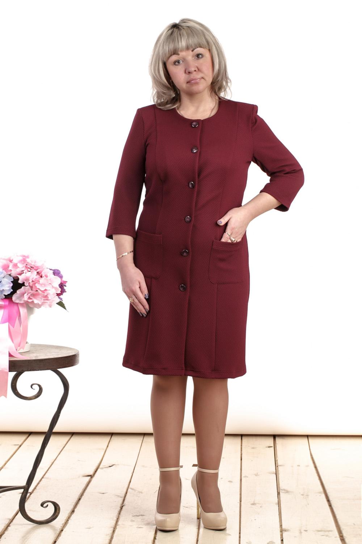 ЖакетЖакеты<br>Удлиненный женский жакет с круглой горловиной и рукавами 3/4. Модель выполнена из фактурного трикотажа. Жакет можно носить как летнее пальто. Отличный вариант для повседневного гардероба.  Цвет: бордовый  Длина изделия: 44 размера - 94 см 46 размера - 95 см 48 размера - 96 см 50 размера - 97 см 52 размера - 98 см 54 размера - 99 см 56 размера - 100 см 58 размера - 101 см  Рост девушки-фотомодели 164 см<br><br>Горловина: С- горловина<br>Застежка: С пуговицами<br>По материалу: Вискоза,Трикотаж<br>По рисунку: Однотонные<br>По силуэту: Полуприталенные<br>По стилю: Офисный стиль,Повседневный стиль<br>По элементам: С карманами<br>Рукав: Рукав три четверти<br>По сезону: Осень,Весна<br>По длине: Удлиненные<br>Размер : 44,46,48,50,52,54,56<br>Материал: Трикотаж<br>Количество в наличии: 7