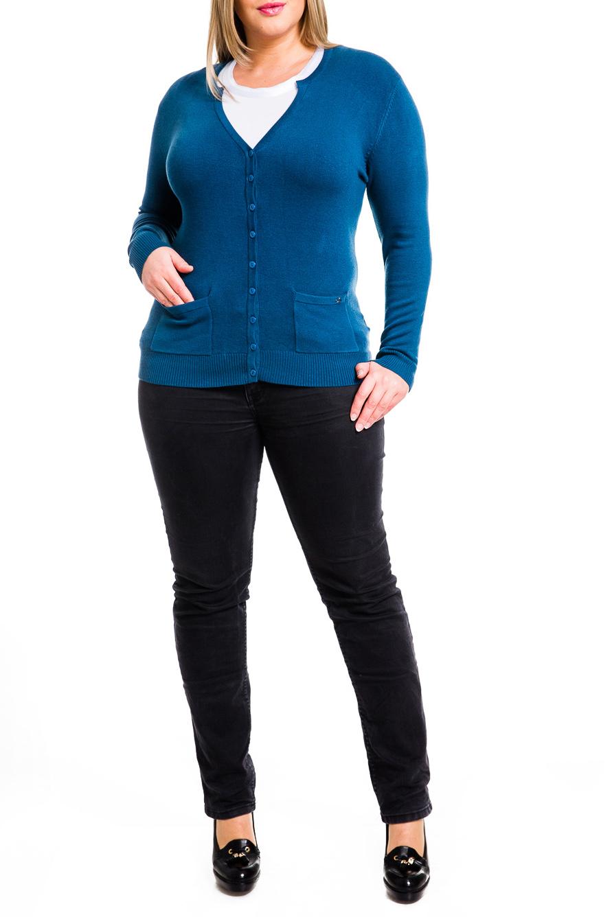 ЖакетКардиганы<br>Превосходный жакет на пуговицах. Модель приталенного кроя с длинным рукавом и V- образным вырезом горловины. Спереди имеются накладные карманы.  В изделии использованы цвета: синий  Параметры размеров (обхват груди, обхват талии, обхват бедер):       42 размер - 82-85 см, 66-69 см, 92-95 см 44 размер - 86-89 см, 70-73 см, 96-98 см 46 размер - 90-93 см, 74-77 см, 99-101 см 48 размер - 94-97 см, 78-81 см, 102-104 см 50 размер - 98-102 см, 82-85 см, 105-108 см 52 размер - 103-107 см, 86-90 см, 109-112 см 54 размер - 108-113 см, 91-95 см, 113-115 см 56 размер - 112-115 см, 95-98 см, 116-118 см 58 размер - 116-119 см, 99-102 см, 119-121 см<br><br>Горловина: Фигурная горловина<br>Застежка: С пуговицами<br>По материалу: Трикотаж<br>По рисунку: Однотонные<br>По силуэту: Полуприталенные<br>По стилю: Офисный стиль,Повседневный стиль<br>По элементам: С карманами<br>Рукав: Длинный рукав<br>По сезону: Осень,Весна<br>По длине: Средней длины<br>Размер : 48,50,52<br>Материал: Трикотаж<br>Количество в наличии: 3