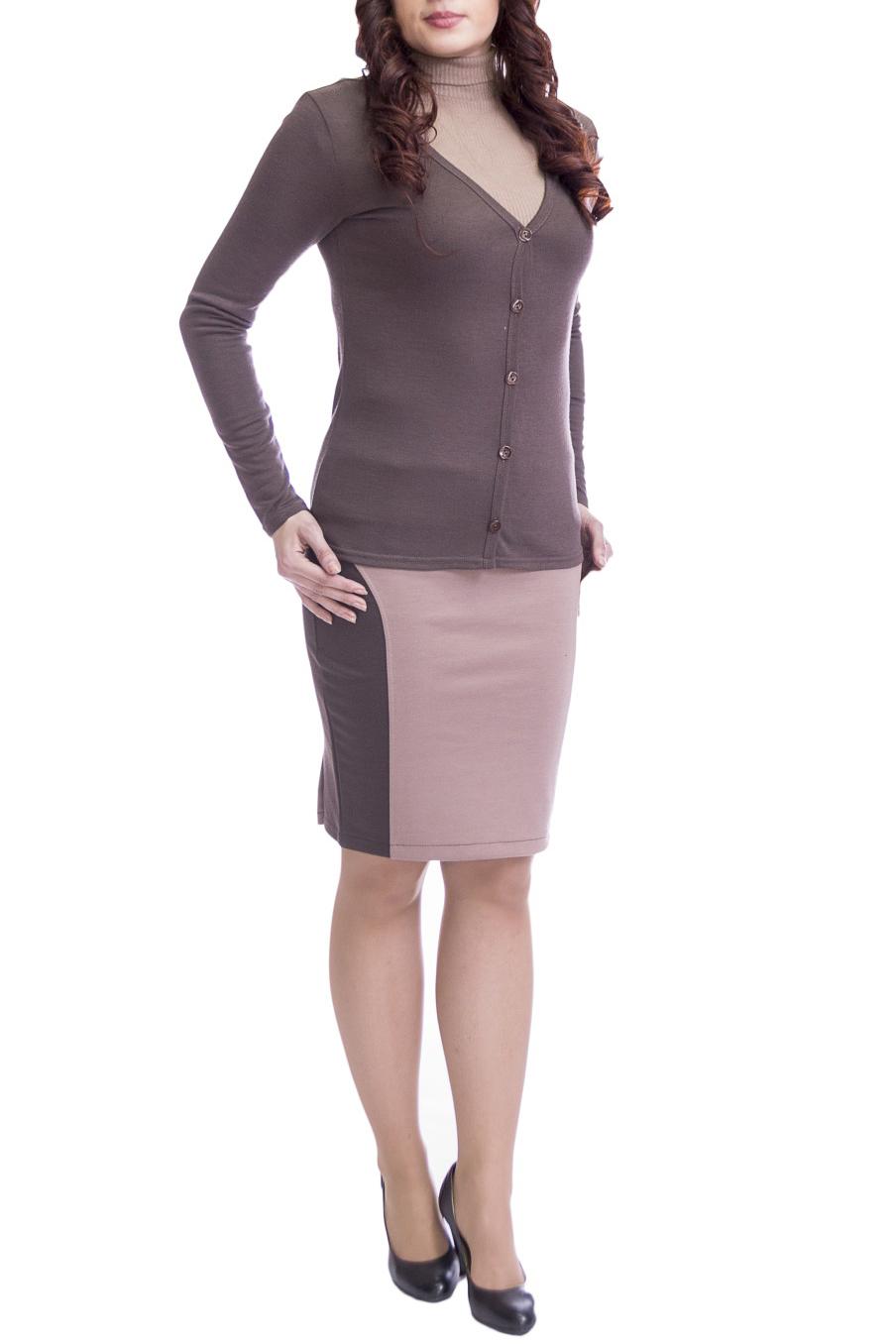 КардиганКардиганы<br>Однотонный кардиган с длинными рукавами и застежкой на пуговицы. Модель выполнена из мягкой вискозы. Отличный выбор для повседневного и делового гардероба.  Цвет: коричневый  Рост девушки-фотомодели 170 см.<br><br>Горловина: V- горловина<br>Застежка: С пуговицами<br>По длине: Короткие<br>По материалу: Вискоза,Трикотаж<br>По образу: Город,Офис<br>По рисунку: Однотонные<br>По стилю: Классический стиль,Офисный стиль,Повседневный стиль<br>Рукав: Длинный рукав<br>По сезону: Осень,Весна<br>Размер : 46,48,50,52<br>Материал: Вискоза<br>Количество в наличии: 8