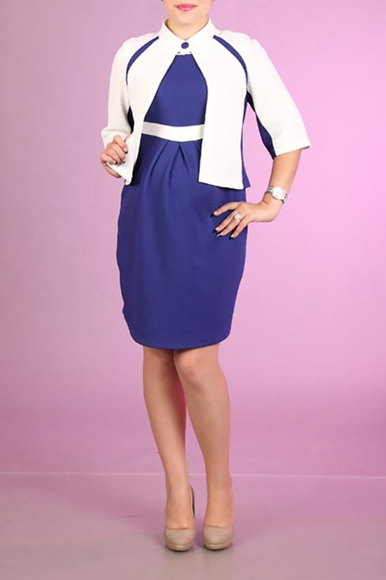 КостюмКостюмы<br>Великолепный костюм состоит из платья и жакета. Модель выполнена из плотного трикотажа. Отличный выбор для любого случая.  За счет свободного кроя и эластичного материала изделие можно носить во время беременности  Цвет: белый, фиолетовый  Ростовка изделия 170 см.<br><br>Застежка: С пуговицами<br>По длине: До колена<br>По материалу: Вискоза,Трикотаж<br>По рисунку: Цветные<br>По силуэту: Полуприталенные<br>По стилю: Повседневный стиль<br>По форме: Костюм двойка,Юбочный костюм<br>По элементам: Со складками<br>Рукав: Рукав три четверти<br>По сезону: Осень,Весна<br>Размер : 44,46<br>Материал: Джерси<br>Количество в наличии: 2