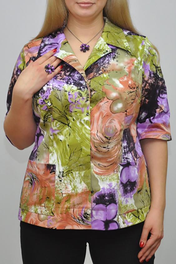 ЖакетЖакеты<br>Цветной жакет с короткими рукавами и застежкой на пуговицы. Модель выполнена из хлопкового материала. Отличный выбор для повседневного гардероба.  Цвет: зеленый, сиреневый, коралловый  Рост девушки-фотомодели 173 см.<br><br>По образу: Город,Свидание<br>По стилю: Летний стиль,Повседневный стиль<br>По материалу: Хлопок<br>По рисунку: Растительные мотивы,С принтом,Цветные<br>По сезону: Лето<br>По силуэту: Полуприталенные<br>По длине: Средней длины<br>Воротник: Отложной<br>Рукав: До локтя<br>Горловина: V- горловина<br>Застежка: С пуговицами<br>Размер: 52,54,56,58,60,62,64<br>Материал: 95% хлопок 5% эластан<br>Количество в наличии: 6
