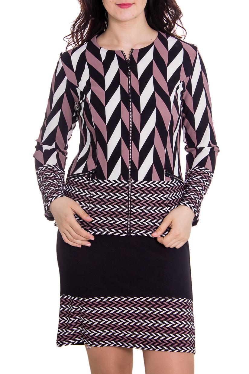 КостюмКостюмы<br>Женский костюм состоит из жакета и юбки. Модель выполнена из плотного трикотажа. Отличный выбор для повседневного гардероба.  Цвет: фиолетовый, розовый, белый  Рост девушки-фотомодели 180 см<br><br>Горловина: С- горловина<br>По длине: Мини<br>По материалу: Вискоза,Трикотаж<br>По рисунку: Абстракция,Цветные<br>По сезону: Зима,Осень,Весна<br>По силуэту: Полуприталенные<br>По стилю: Молодежный стиль,Повседневный стиль<br>По форме: Костюм двойка,Юбочные<br>Застежка: С молнией<br>Рукав: Длинный рукав<br>Размер : 54<br>Материал: Трикотаж<br>Количество в наличии: 1