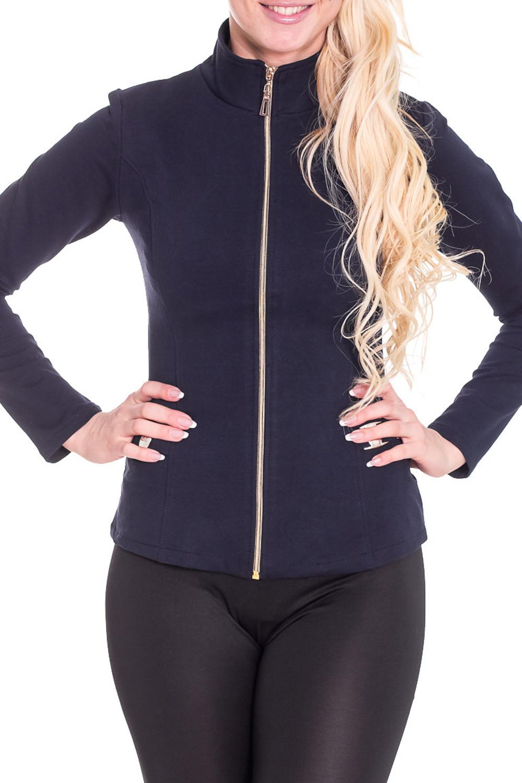 КофтаСпортивная одежда<br>Красивая кофта с застежкой на молнию и длинными рукавами. Модель выполнена из приятного трикотажа. Отличный выбор для повседневного гардероба. Просим учесть, что изделие маломерит на один размер.  Цвет: синий  Рост девушки-фотомодели 170 см.<br><br>Воротник: Стойка<br>Застежка: С молнией<br>По материалу: Трикотаж<br>По образу: Город,Спорт<br>По рисунку: Однотонные<br>По сезону: Весна,Осень<br>По силуэту: Полуприталенные<br>По стилю: Молодежный стиль,Повседневный стиль,Спортивный стиль<br>Рукав: Длинный рукав<br>Размер : 44,46<br>Материал: Трикотаж<br>Количество в наличии: 2