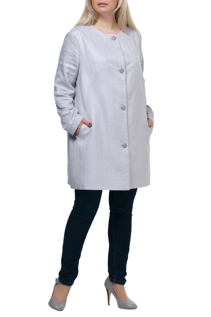ЖакетЖакеты<br>Удлиненный жакет с длинными рукавами и застежкой на пуговицы. Модель выполнена из льняного материала. Отличный выбор для повседневного гардероба.  Жакет можно носить как летнее пальто  Цвет: серый  Рост девушки-фотомодели 173 см.<br><br>Горловина: С- горловина<br>Застежка: С пуговицами<br>По материалу: Лен,Тканевые<br>По рисунку: Однотонные<br>По сезону: Весна,Осень,Лето<br>По силуэту: Свободные<br>По стилю: Офисный стиль,Повседневный стиль<br>По элементам: С карманами<br>Рукав: Длинный рукав<br>По длине: Удлиненные<br>Размер : 58,60,62,64,66<br>Материал: Костюмная ткань<br>Количество в наличии: 5