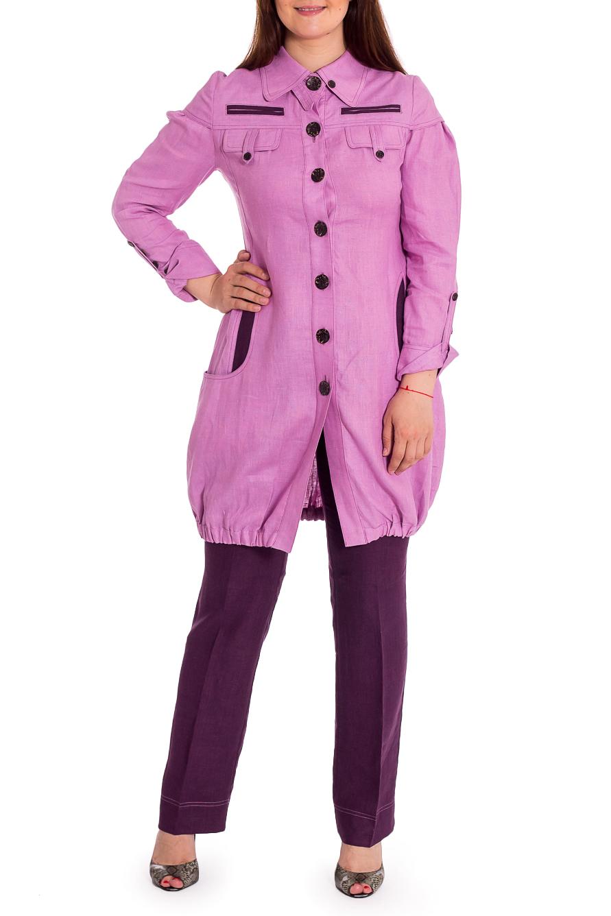 КостюмКостюмы<br>Замечательный летний костюм состоит из туники и брюк. Модель выполнена из натурального льна. Отличный выбор для повседневного гардероба.В изделии использованы цвета: сиреневый, фиолетовыйРост девушки-фотомодели 180 см.<br><br>Воротник: Рубашечный<br>Застежка: С пуговицами<br>Рукав: Длинный рукав<br>Длина: Макси<br>Материал: Лен<br>Рисунок: Цветные<br>Сезон: Весна,Лето<br>Силуэт: Полуприталенные<br>Стиль: Летний стиль,Повседневный стиль<br>Форма: Брючный костюм,Костюм двойка<br>Элементы: С декором,С карманами,С манжетами,С патами<br>Размер : 46,48,50<br>Материал: Лен<br>Количество в наличии: 4
