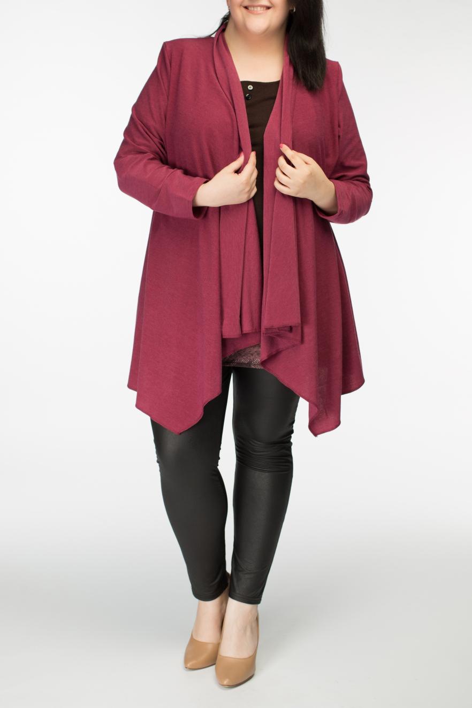 КардиганКардиганы<br>Свободный женский кардиган с длинным рукавом, под любую блузку или водолазку.  Длина изделия 81 см.  Цвет: фуксия  Рост девушки-фотомодели 170 см.<br><br>По материалу: Трикотаж,Шерсть<br>По рисунку: Однотонные<br>По сезону: Зима,Осень,Весна<br>По силуэту: Свободные<br>По стилю: Повседневный стиль<br>По элементам: С фигурным низом<br>Рукав: Длинный рукав<br>По длине: Средней длины<br>Размер : 54,62<br>Материал: Трикотаж<br>Количество в наличии: 4