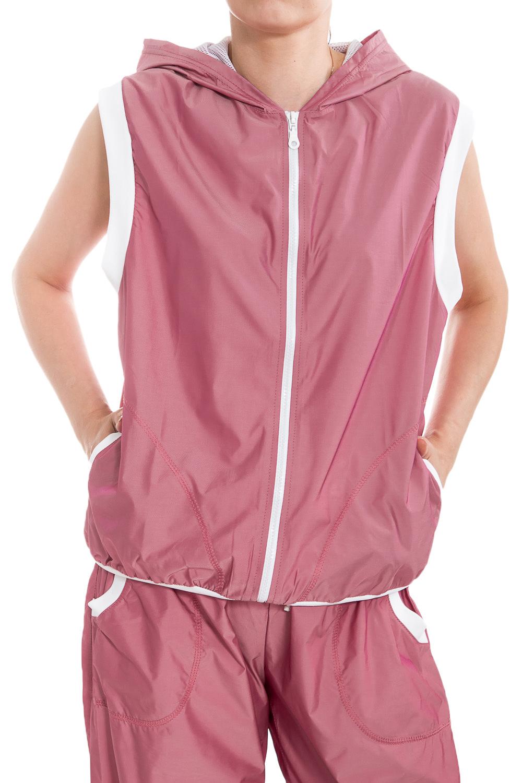 ЖилетСпортивная одежда<br>Стильный жилет с длинной молнией, двумя карманами и капюшоном для занятия спортом или прогулок. Модель декорирована трансфером на спине в виде бабочки, оригинальный дизайн изделия не позволит Вам остаться незамеченной. В данной модели используется подкладочная ткань quot;сеткаquot;, обеспечивающая комфорт при носке, оптимальные условия микроклимата, не сковывает движений. Модель выполненная из ткани микрофибра - это текстиль новейшего поколения, бархатистая, эластичная, чрезвычайно крепкая ткань, устойчивая к химическому и световому воздействию. К преимуществам микрофибры следует отнести отсутствие quot;капризностиquot;: ткань мужественно переносит все тяготы эксплуатации, сохраняя первозданный вид в течение долгих лет.  Цвет: розовый  Ростовка изделия 170 см  При создании образа, который Вы видите на фотографии, также были использованы арт. B(2)-NNE. Для просмотра модели введите артикул в строке поиска.<br><br>Застежка: С молнией<br>По материалу: Плащевая ткань<br>По рисунку: Неоновые,Однотонные<br>По сезону: Весна,Зима,Осень,Всесезон<br>По силуэту: Полуприталенные<br>По стилю: Повседневный стиль,Спортивный стиль<br>По элементам: С капюшоном,С карманами,С манжетами,С отделочной фурнитурой<br>Рукав: Без рукавов<br>По форме: Спортивные кофты<br>Размер : 50<br>Материал: Плащевая ткань<br>Количество в наличии: 1