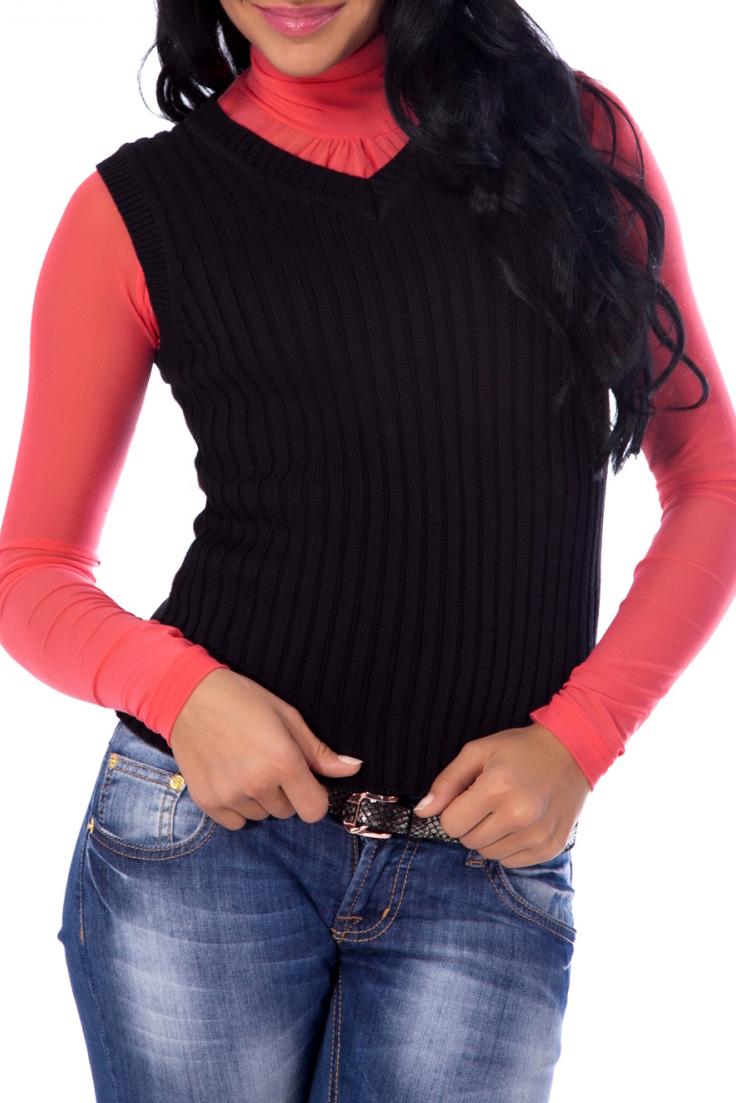 ЖилетЖилеты<br>Классический вязаный жилет в рубчик. Модель без рукавов с V-образным вырезом горловины облегающего кроя. Края ворота и горловины окантованы окантованы плотной вязкой в рубчик  В изделии использованы цвета: черный  Параметры размеров (обхват груди, обхват талии, обхват бедер):       42 размер - 82-85 см, 66-69 см, 92-95 см 44 размер - 86-89 см, 70-73 см, 96-98 см 46 размер - 90-93 см, 74-77 см, 99-101 см 48 размер - 94-97 см, 78-81 см, 102-104 см 50 размер - 98-102 см, 82-85 см, 105-108 см 52 размер - 103-107 см, 86-90 см, 109-112 см 54 размер - 108-113 см, 91-95 см, 113-115 см 56 размер - 112-115 см, 95-98 см, 116-118 см 58 размер - 116-119 см, 99-102 см, 119-121 см<br><br>Горловина: V- горловина<br>По длине: Средней длины<br>По материалу: Вязаные,Трикотаж<br>По образу: Город,Офис<br>По рисунку: Однотонные,Фактурный рисунок<br>По силуэту: Полуприталенные<br>По стилю: Офисный стиль,Повседневный стиль<br>Рукав: Без рукавов<br>По сезону: Осень,Весна<br>Размер : 42,44,46<br>Материал: Вязаное полотно<br>Количество в наличии: 4