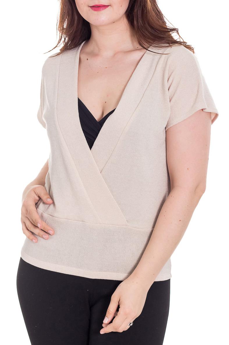 ЖилетЖилеты<br>Свободный жилет с короткими рукавами. Модель выполнена из приятного трикотажа. Отличный выбор для повседневного и делового гардероба. Жилет можно носить с блузками, водолазками или рубашками.  Цвет: бежевый  Рост девушки-фотомодели 180 см<br><br>Горловина: V- горловина,Запах<br>По длине: Средней длины<br>По материалу: Трикотаж<br>По рисунку: Однотонные<br>По силуэту: Полуприталенные<br>По стилю: Повседневный стиль<br>Рукав: Короткий рукав<br>По сезону: Осень,Весна<br>Размер : 46,48,50,52,54,56,58<br>Материал: Трикотаж<br>Количество в наличии: 12