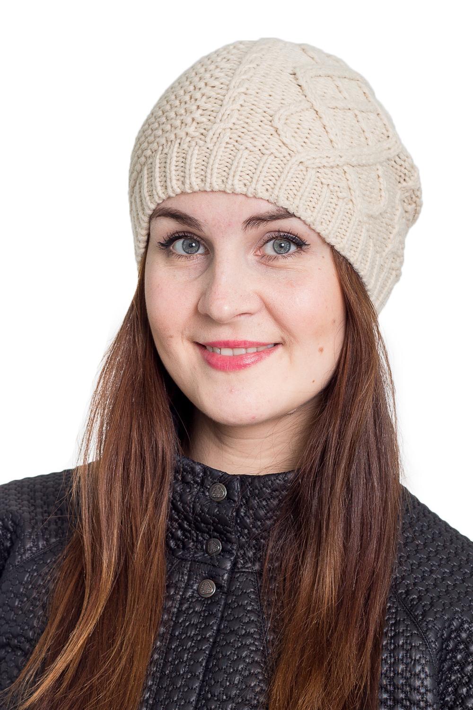 ШапкаШапки<br>Однотонная шапка подарит Вам тепло и комфорт.  Стильный аксессуар защитит Вас от непогоды и станет прекрасным дополнением Вашего образа.  В изделии использованы цвета: бежевый<br><br>По материалу: Вязаные<br>По рисунку: Однотонные<br>По сезону: Зима,Осень,Весна<br>Размер : universal<br>Материал: Вязаное полотно<br>Количество в наличии: 1