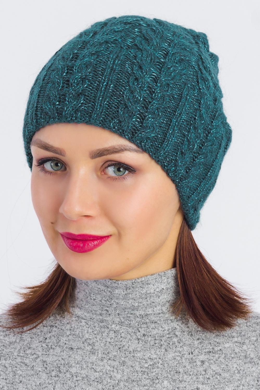 Шапка шапка женская robin ruth moscow цвет белый морская волна kmos002 d размер универсальный