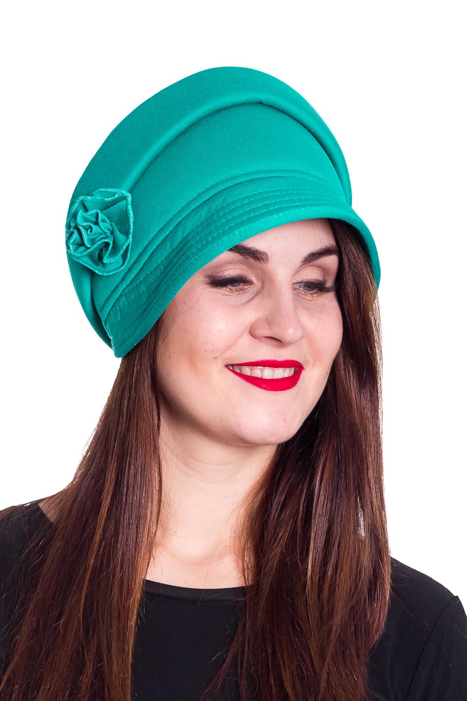 ШапкаШапки<br>Красивая шапка с подкладом из флиса защитит Вас от непогоды и станет прекрасным дополнением Вашего образа.  Цвет: бирюзовый  Размер 56-58 равен обхвату головы в сантиметрах.  Обхват головы измеряется по лобной части над уровнем бровей (на 2-3 сантиметра выше) и по самой выпуклой затылочной части.<br><br>По материалу: Трикотаж<br>По рисунку: Однотонные<br>По сезону: Осень,Зима<br>По элементам: С декором<br>Размер : universal<br>Материал: Трикотаж<br>Количество в наличии: 1