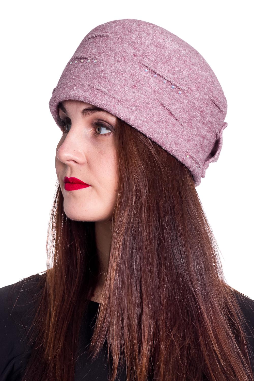 ШапкаШапки<br>Стильная шапка защитит Вас от непогоды и станет прекрасным дополнением Вашего образа.  В изделии использованы цвета: розовый  Размер 56-58 равен обхвату головы в сантиметрах.  Обхват головы измеряется по лобной части над уровнем бровей (на 2-3 сантиметра выше) и по самой выпуклой затылочной части.<br><br>По материалу: Трикотаж<br>По рисунку: Однотонные<br>По элементам: С декором<br>По сезону: Осень,Весна<br>Размер : universal<br>Материал: Текстиль<br>Количество в наличии: 1