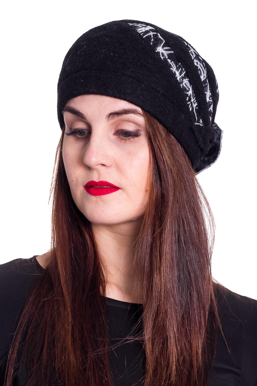 ШапкаШапки<br>Стильная шапка защитит Вас от непогоды и станет прекрасным дополнением Вашего образа.  В изделии использованы цвета: черный, белый  Размер 54-56 равен обхвату головы в сантиметрах.  Обхват головы измеряется по лобной части над уровнем бровей (на 2-3 сантиметра выше) и по самой выпуклой затылочной части.<br><br>По материалу: Трикотаж<br>По рисунку: С принтом,Цветные<br>По элементам: С декором<br>По сезону: Осень,Весна<br>Размер : universal<br>Материал: Текстиль<br>Количество в наличии: 1