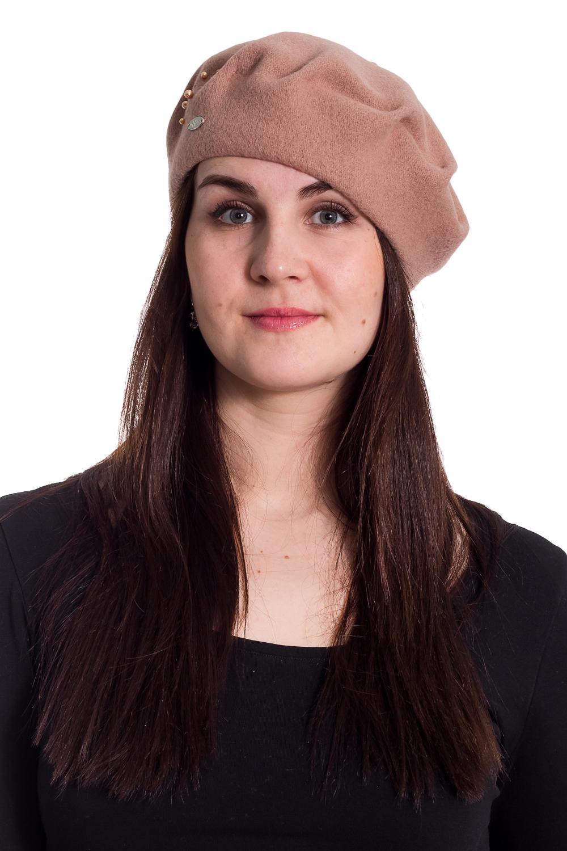 БеретБереты<br>Берет с защипами и бусинами защитит Вас от непогоды и станет прекрасным дополнением Вашего образа.  В изделии использованы цвета: светлое какао  Размер universal (56-58) равен обхвату головы в сантиметрах  Обхват головы измеряется по лобной части над уровнем бровей (на 2-3 сантиметра выше) и по самой выпуклой затылочной части.<br><br>По сезону: Осень,Весна<br>Размер : universal<br>Материал: Вязаное полотно<br>Количество в наличии: 2