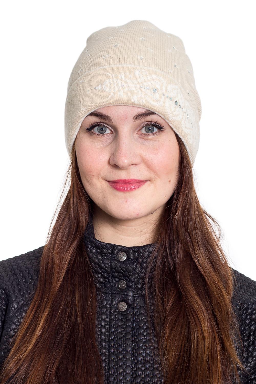 ШапкаШапки<br>Однотонная шапка подарит Вам тепло и комфорт.  Стильный аксессуар защитит Вас от непогоды и станет прекрасным дополнением Вашего образа.  В изделии использованы цвета: бежевый<br><br>По материалу: Вязаные<br>По рисунку: Однотонные<br>По сезону: Зима,Осень,Весна<br>По элементам: С декором<br>Размер : universal<br>Материал: Вязаное полотно<br>Количество в наличии: 1