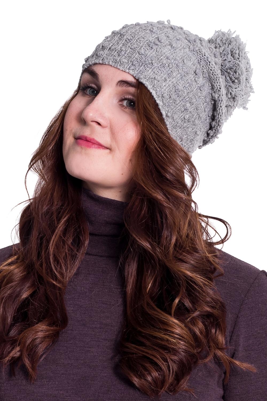 ШапкаШапки<br>Стильная шапка с помпоном защитит Вас от непогоды и станет прекрасным дополнением Вашего образа.  Цвет: серый<br><br>По материалу: Вязаные,Трикотаж<br>По рисунку: Однотонные<br>По элементам: С декором,С помпоном<br>По сезону: Осень,Весна<br>Размер : universal<br>Материал: Вязаное полотно<br>Количество в наличии: 1
