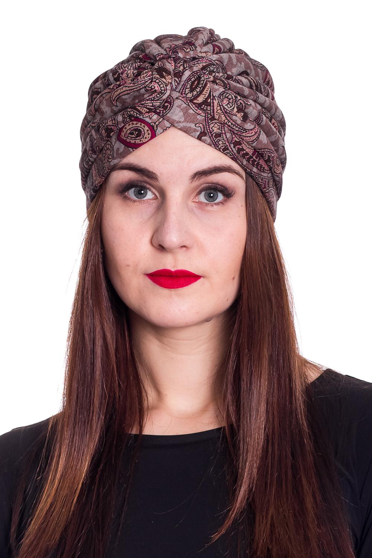 ЧалмаШапки<br>Стильная шапка на подкладе защитит Вас от непогоды и станет прекрасным дополнением Вашего образа.  В изделии использованы цвета: бежевый, коричневый и др.  Размер 54-56 равен обхвату головы в сантиметрах.  Обхват головы измеряется по лобной части над уровнем бровей (на 2-3 сантиметра выше) и по самой выпуклой затылочной части.<br><br>По материалу: Трикотаж<br>По рисунку: С принтом,Цветные,Этнические<br>По элементам: С декором<br>По сезону: Осень,Весна<br>Размер : universal<br>Материал: Трикотаж<br>Количество в наличии: 1