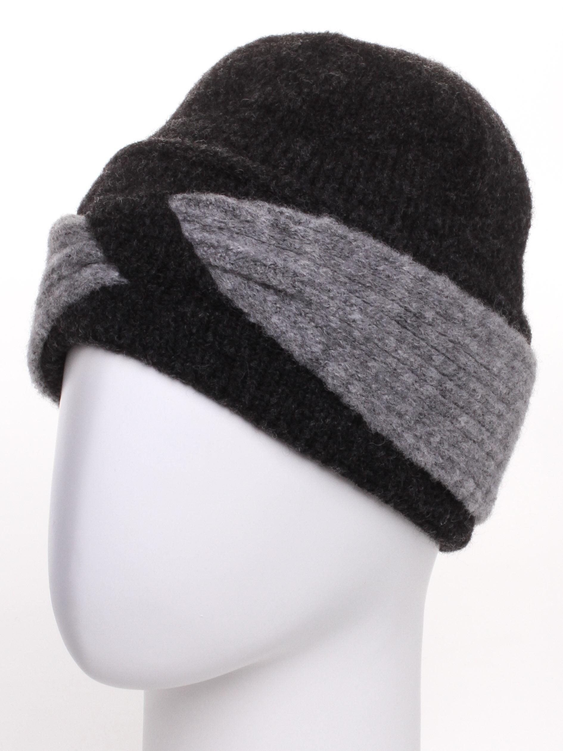 ШапкаШапки<br>Стильная шапка защитит Вас от непогоды и станет прекрасным дополнением Вашего образа.  В изделии использованы цвета: черный, серый<br><br>По материалу: Вязаные<br>По рисунку: Цветные<br>По сезону: Зима<br>Размер : universal<br>Материал: Вязаное полотно<br>Количество в наличии: 1