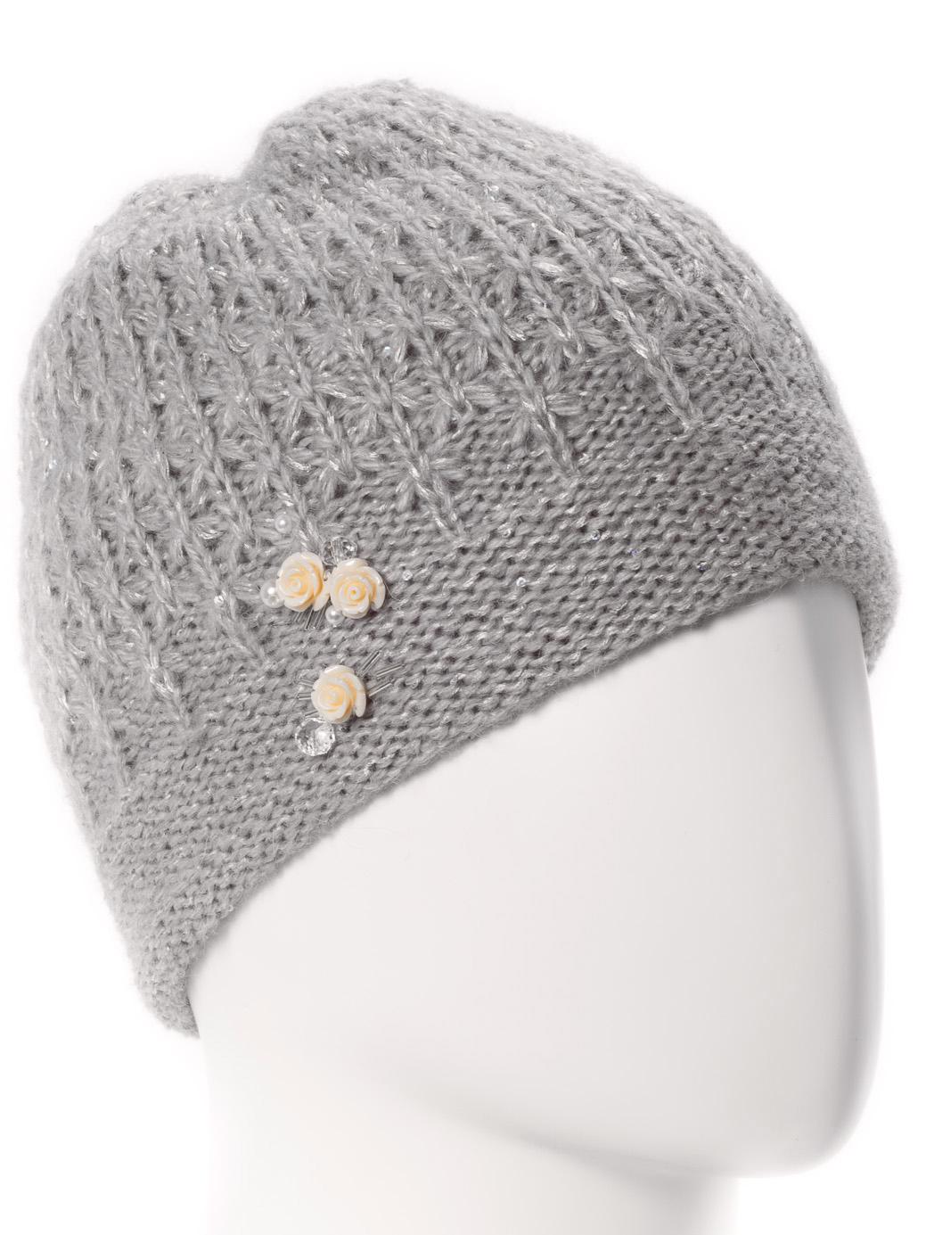 ШапкаШапки<br>Стильная шапка защитит Вас от непогоды и станет прекрасным дополнением Вашего образа.  В изделии использованы цвета: серый<br><br>По материалу: Вязаные<br>По рисунку: Однотонные<br>По сезону: Зима<br>Размер : universal<br>Материал: Вязаное полотно<br>Количество в наличии: 1