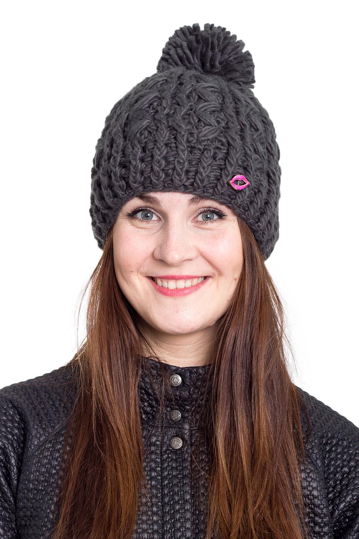 ШапкаШапки<br>Однотонная шапка подарит Вам тепло и комфорт.  Стильный аксессуар защитит Вас от непогоды и станет прекрасным дополнением Вашего образа.  В изделии использованы цвета: серый<br><br>По материалу: Вязаные<br>По рисунку: Однотонные<br>По сезону: Зима,Осень,Весна<br>По элементам: С помпоном<br>Размер : universal<br>Материал: Вязаное полотно<br>Количество в наличии: 1