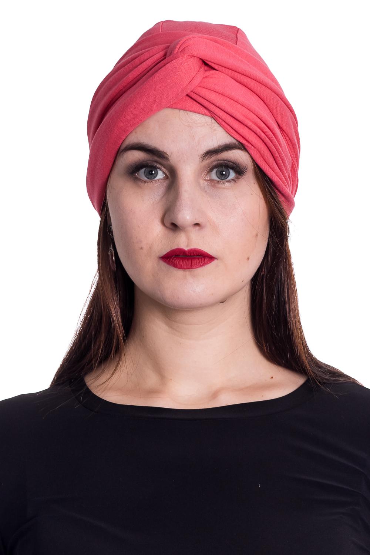 ЧалмаШапки<br>Стильная шапка защитит Вас от непогоды и станет прекрасным дополнением Вашего образа.  В изделии использованы цвета: коралловый<br><br>По материалу: Трикотаж,Хлопок<br>По рисунку: Однотонные<br>По элементам: С декором<br>По сезону: Осень,Весна<br>Размер : universal<br>Материал: Трикотаж<br>Количество в наличии: 1