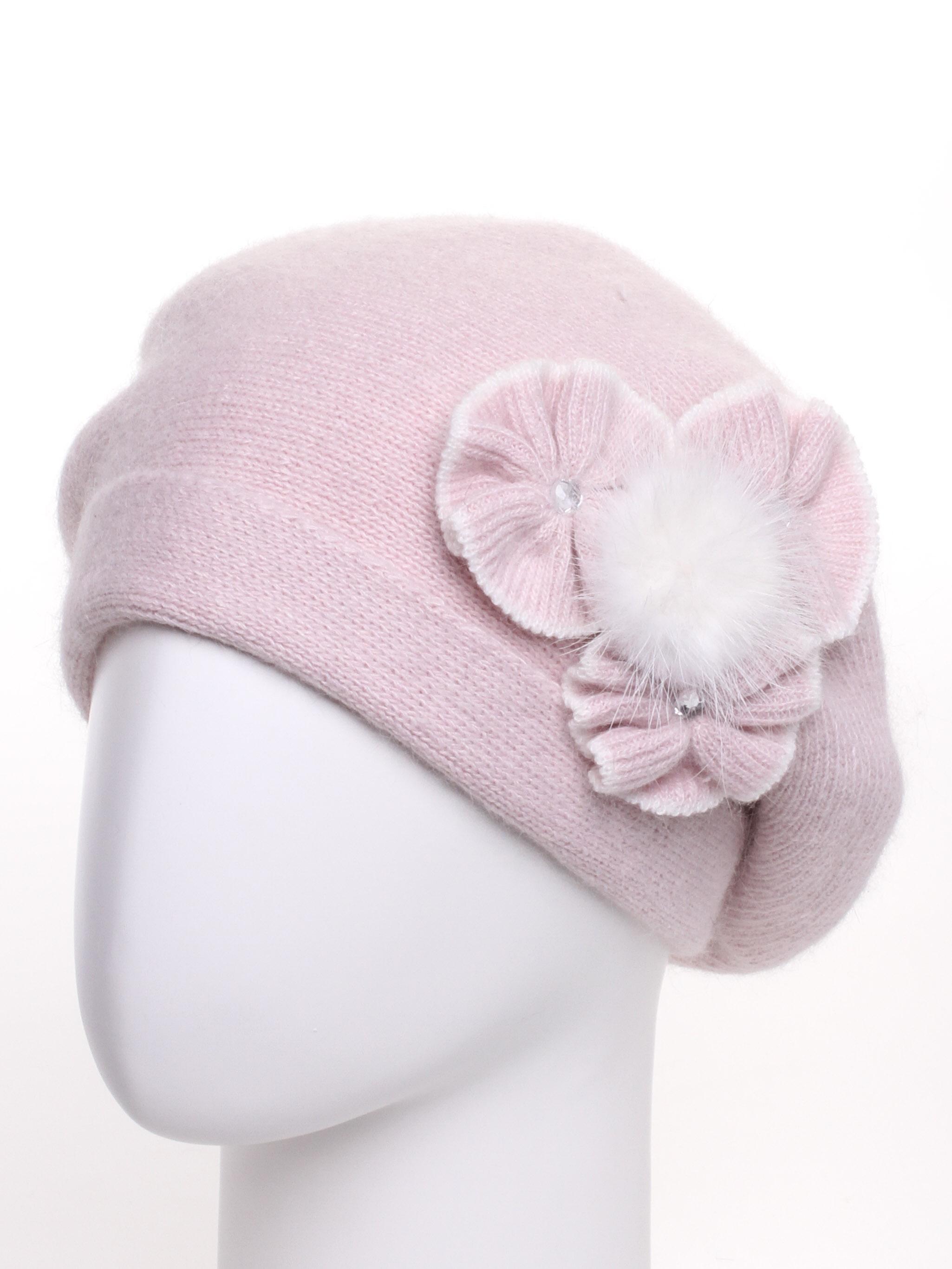 БеретБереты<br>Шерстяной беретик подарит Вам тепло и комфорт.  Стильный берет подчеркнет Вашу женственность и станет прекрасным дополнением Вашего образа.  В изделии использованы цвета: розовый, белый.<br><br>По сезону: Зима<br>Размер : universal<br>Материал: Вязаное полотно<br>Количество в наличии: 1