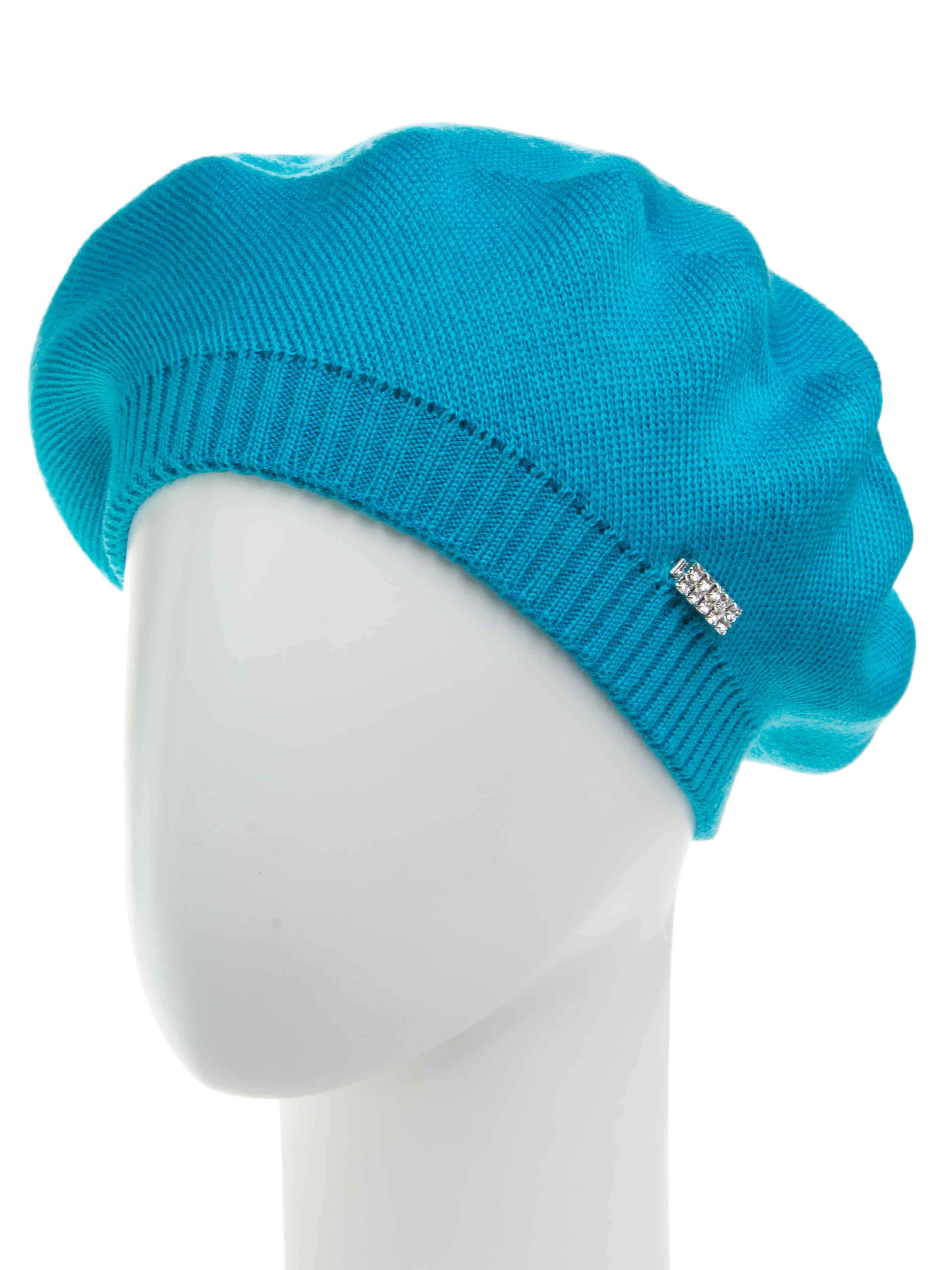 БеретБереты<br>Шерстяной беретик подарит Вам тепло и комфорт.  Стильный берет подчеркнет Вашу женственность и станет прекрасным дополнением Вашего образа.  В изделии использованы цвета: бирюзовый<br><br>По сезону: Зима<br>Размер : universal<br>Материал: Вязаное полотно<br>Количество в наличии: 1