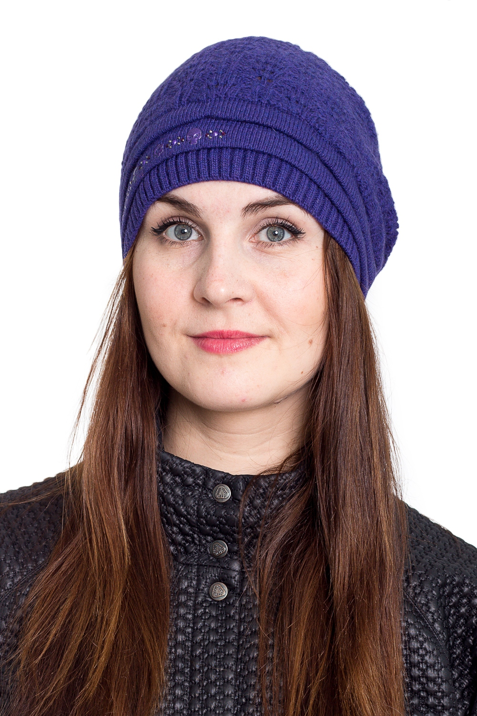 ШапкаШапки<br>Однотонная шапка подарит Вам тепло и комфорт.  Стильный аксессуар защитит Вас от непогоды и станет прекрасным дополнением Вашего образа.  В изделии использованы цвета: фиолетовый<br><br>По материалу: Вязаные<br>По рисунку: Однотонные<br>По сезону: Зима,Осень,Весна<br>По элементам: С декором<br>Размер : universal<br>Материал: Вязаное полотно<br>Количество в наличии: 1