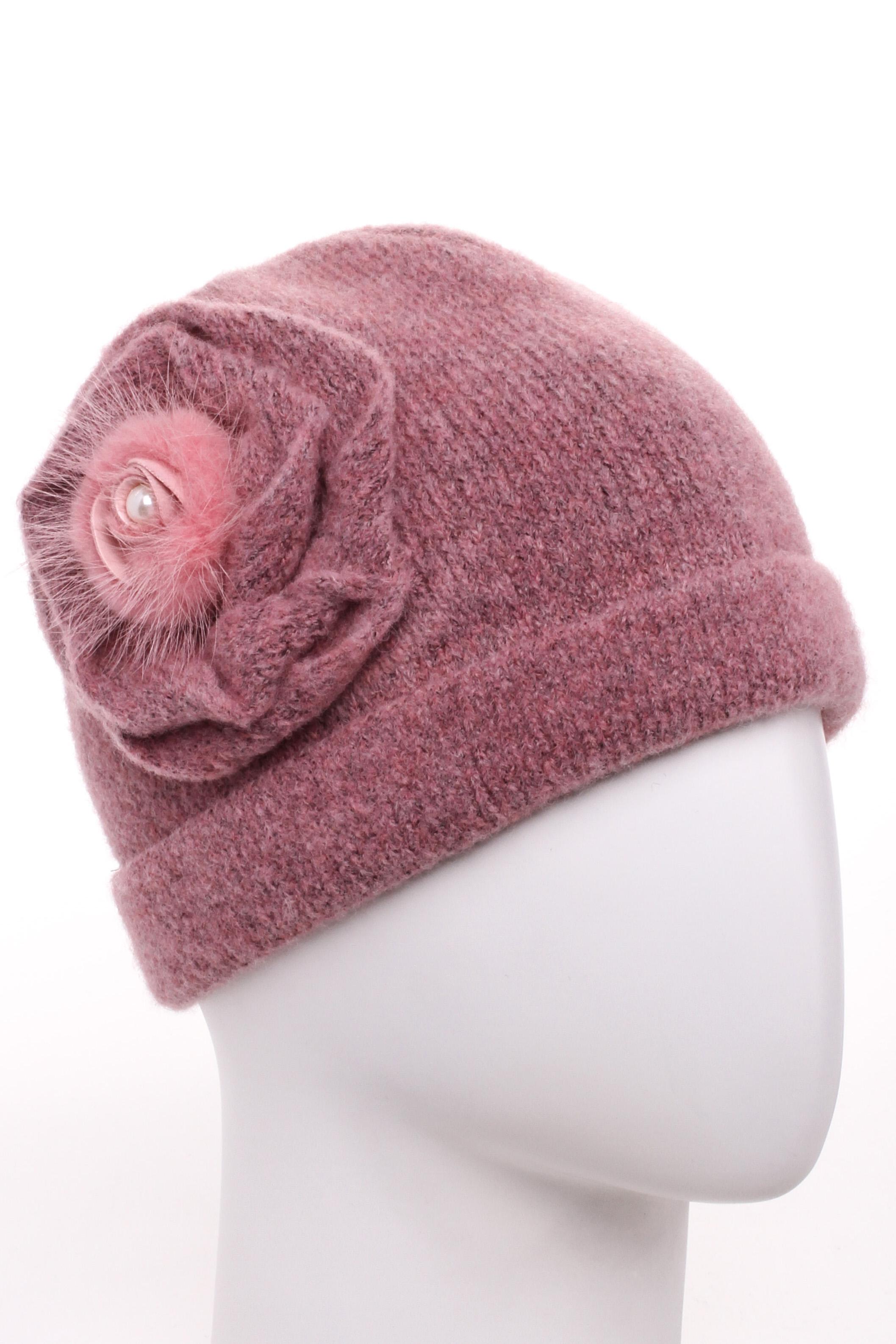 ШапкаШапки<br>Стильная шапка защитит Вас от непогоды и станет прекрасным дополнением Вашего образа.  В изделии использованы цвета: розовый<br><br>По материалу: Вязаные<br>По рисунку: Однотонные<br>По элементам: С декором<br>По сезону: Зима<br>Размер : universal<br>Материал: Вязаное полотно<br>Количество в наличии: 1