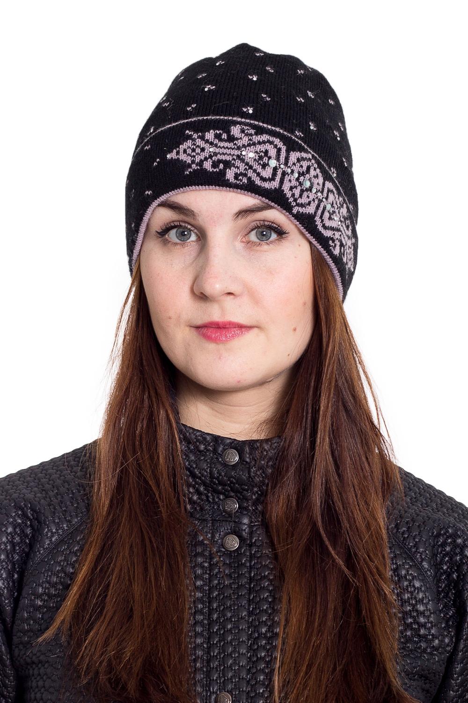 ШапкаШапки<br>Очаровательная шапка подарит Вам тепло и комфорт.  Стильный аксессуар защитит Вас от непогоды и станет прекрасным дополнением Вашего образа.  В изделии использованы цвета: черный, розовый<br><br>По материалу: Вязаные<br>По рисунку: С принтом,Цветные<br>По сезону: Весна,Осень,Зима<br>Размер : universal<br>Материал: Вязаное полотно<br>Количество в наличии: 1